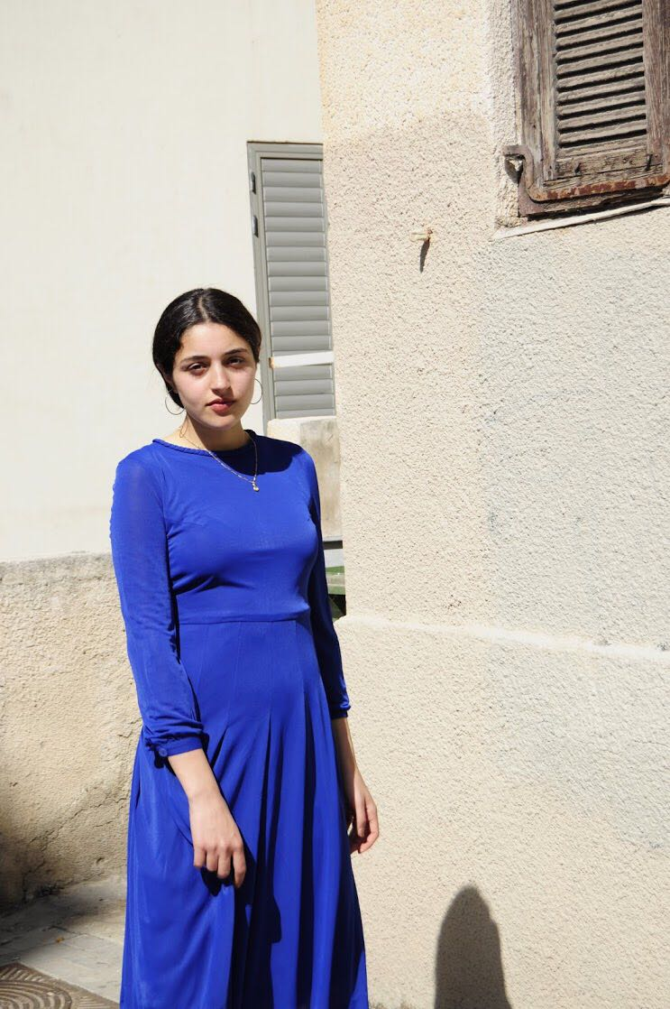 Blue Japanese dress