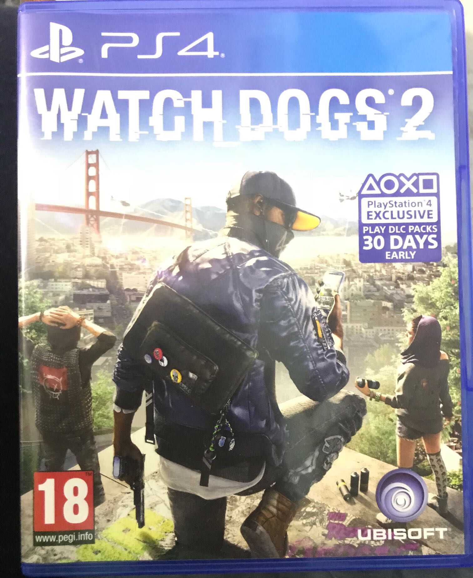 משחק watch dogs 2 ps4 חדש