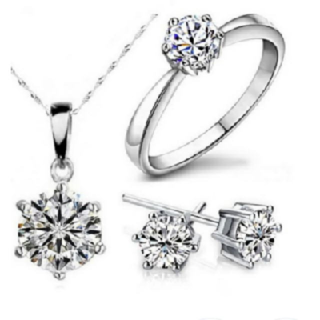 Wedding Engagement Fine Jewelry Set