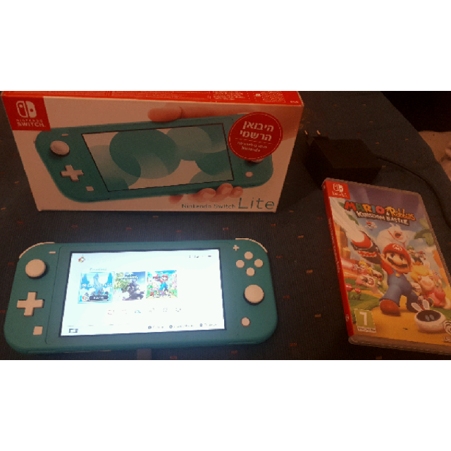 נינטנדו סוויץ לייט  Nintendo Switch Lite כולל מישחק של Mario + Rabbids